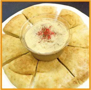 zest-foodsゼストフーズ フムス(ピタパン付き)3枚 Hummus pita set