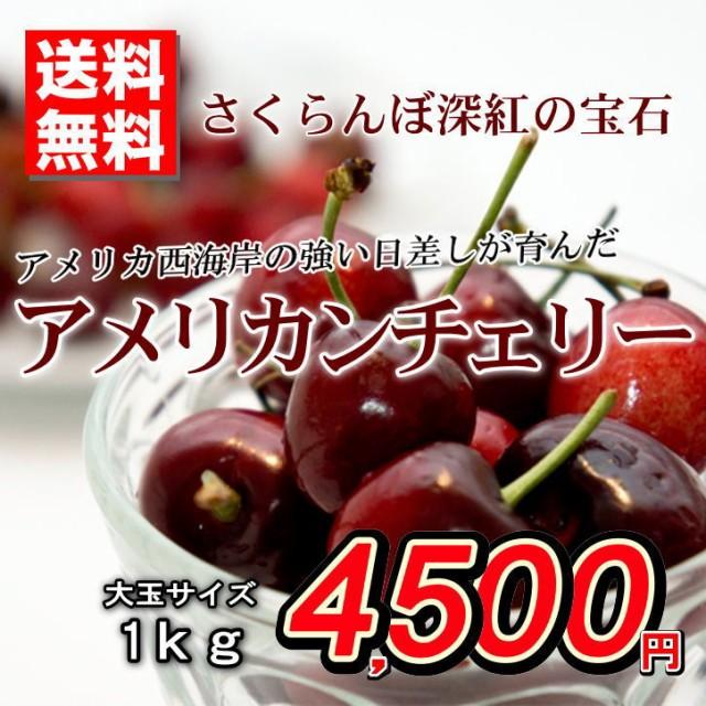送料無料 アメリカンチェリー アメリカ産 さくらんぼ 秀品 大玉 約1kg バラ詰め 贈答用 ご家庭用 おためし