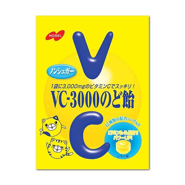 【まとめ買い】ノーベル製菓 VC-3000のど飴(90g)×6袋