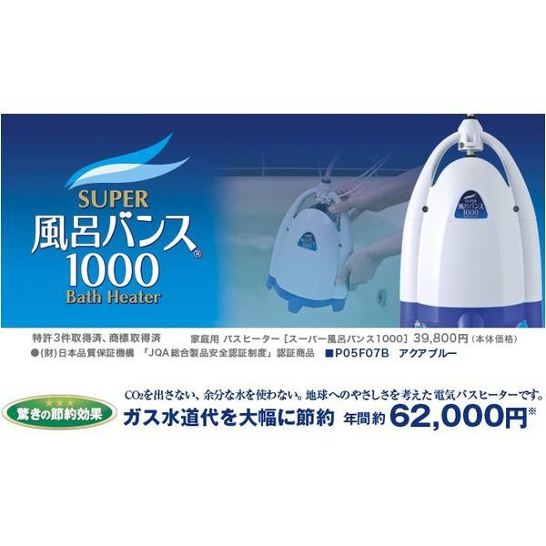 アクアブルー NEWスーパー風呂バンス1000 P05F07B