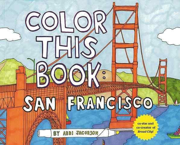 COLOR THIS BOOK SAN FRANCISCO/バーゲンブック{ぬりえ クロニクルブックス 洋書 その他洋書 英語 えいご ブッ