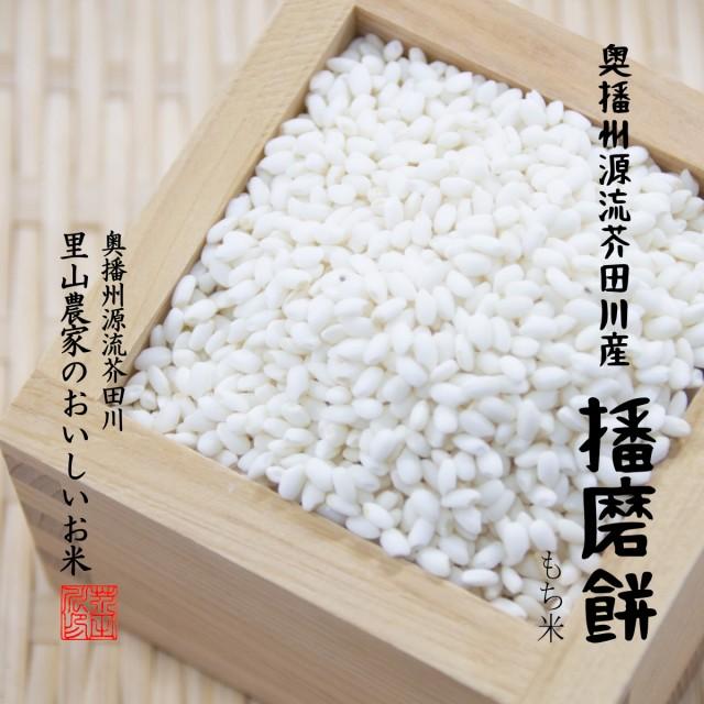 もち米 10kg 5kg×2 送料無料 播磨餅 奥播州源流芥田川産 はりまもち 令和2年産 新もち モチ米5キロ