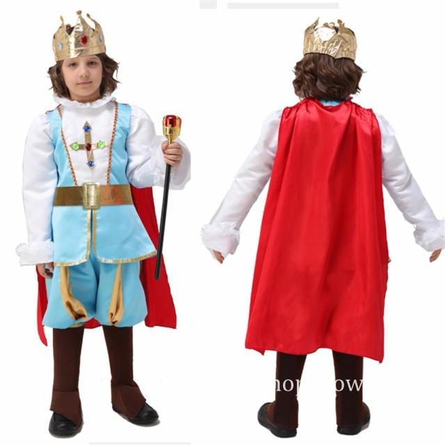 子供 キッズ コスプレ 国王 様 キング プリンス コスチューム 子供服 男の子 演劇 Halloween 学園祭 イベント 仮装 変装ハロウィン