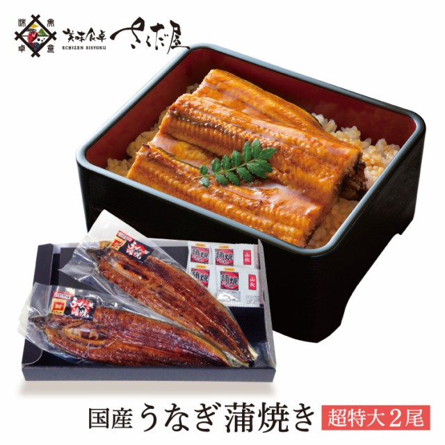 【土用の丑】特大うなぎ 蒲焼き 2尾セット 鰻 国産 ウナギ【冷凍便】