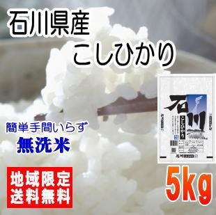 【無洗米】令和2年産石川県産こしひかり5kg ※北海道・九州・沖縄は送料別途 米 5キロ 送料無料
