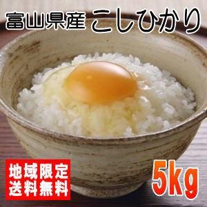 令和2年産 富山県産こしひかり5kg ※北海道・九州・沖縄は別途送料かかります。米 5kg 送料無料 5キロ