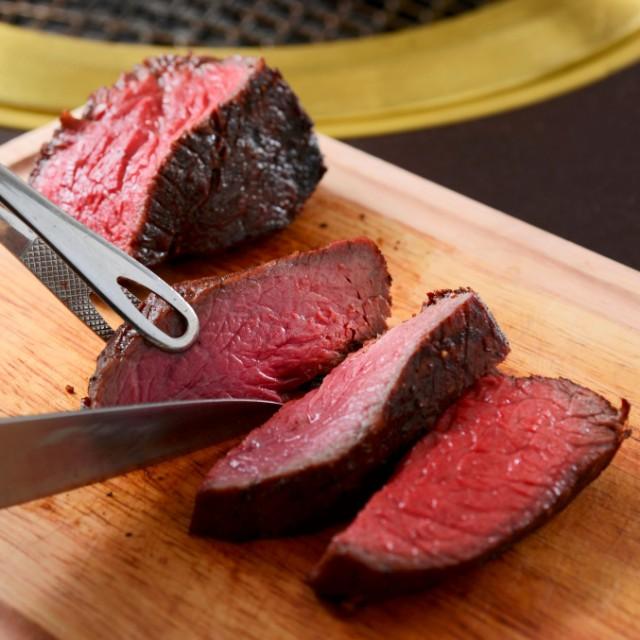 格之進 門崎熟成肉 塊焼き(赤身&霜降り:約120g×2個)/のし対応可能/レビューを書いて送料無料/ギフトセット/焼肉/ステーキ/BBQ