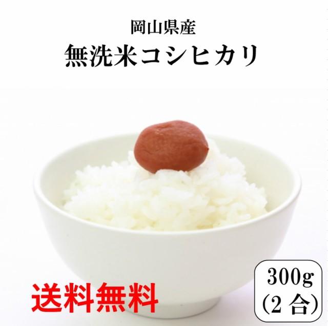 新米 ポイント消化 送料無料 300 食品 米 お試し 無洗米 令和2年産 岡山県産コシヒカリ無洗米300g(2合) 1lkg未満 こしひかり メール便