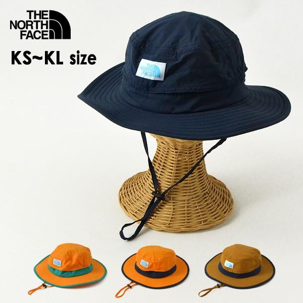 ノースフェイス NNJ02006-MG Kids HORIZON Hat/キッズホライズンハット キッズ 帽子 ぼうし ボウシ ロゴワッペン あごストラップ付 男の