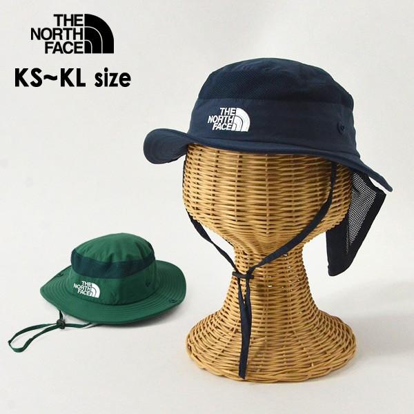 ノースフェイス NNJ02007-MG Kids Camp Sunshield Hat/キッズキャンプサンシェールドハット キッズ 帽子 ぼうし ボウシ 無地 シンプル あ
