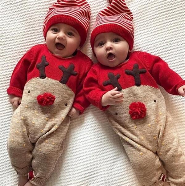 クリスマス コスプレ衣装 トナカイ 着ぐるみ ベビー服 ロンパース 子供用 サンタ服 コスチューム 仮装 男の子 女の子 カパーオール DM便