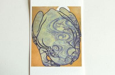 月蛙 ポストカード 『流水月蛙』