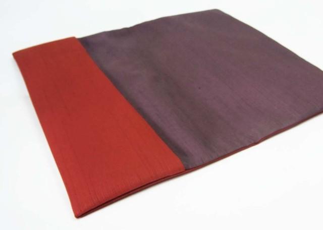 金封ふくさ 紬 リバーシブル 紅X紫