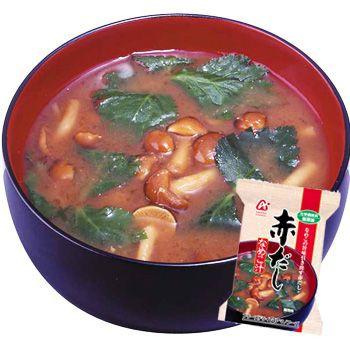 アマノフーズ 味噌汁 無添加 赤だし(なめこ汁) 10袋 (フリーズドライ)