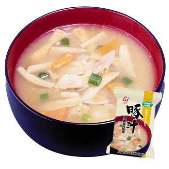 「無添加」豚汁(国産豚肉使用)12.5gX50袋セット(アマノフーズのフリーズドライ味噌汁:日本