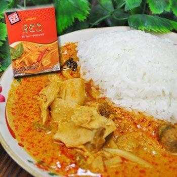ハラル認証 タイ・レッドカレー チキンカレー 200g (レトルトカレー・保存食・非常食にも