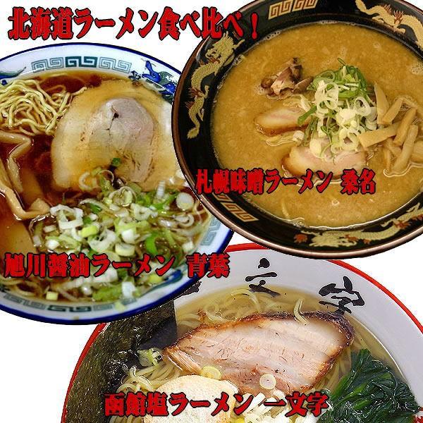 北海道ご当地ラーメンセット 食べ比べ 3種類12食お試しセット(麺・スープ)