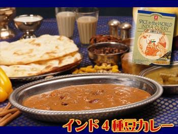 無添加 インドカレー 4種の豆カレー 3箱セット(レトルトカレー)
