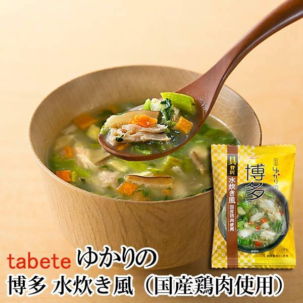 フリーズドライ食品 博多 水炊き風(国産鶏肉使用) 15.8g(tabete ゆかりの)