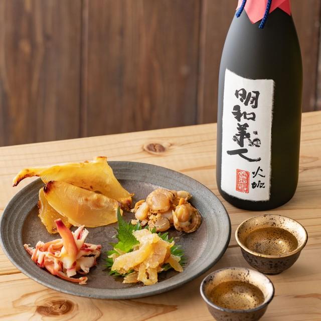 日本酒 ギフト 男性 女性 プレゼント 【純米大吟醸 明和義人 720ml×珍味4種セット】 おつまみセット 結婚祝い 内祝い 退職祝い