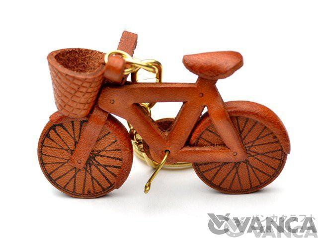 自転車 キーホルダー/レザー 本革 VANCA/バンカクラフト革物語 10631