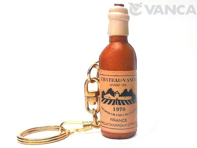 ワインボトル キーホルダー/レザー 本革 VANCA/バンカクラフト革物語 10705