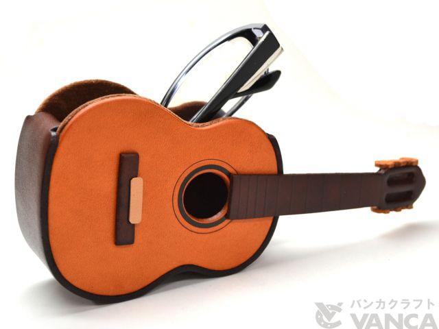 ギター メガネスタンド/レザー 本革 VANCA/バンカクラフト革物語 25626