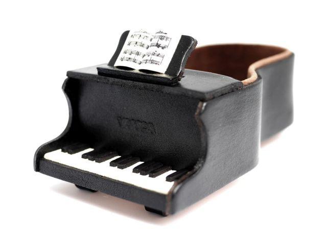 ピアノ メガネスタンド/レザー 本革 VANCA/バンカクラフト革物語 25628