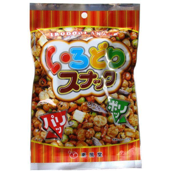 いろどりスナック60g×10 ケース販売 南風堂 豆菓子 あられ 小魚のミックス
