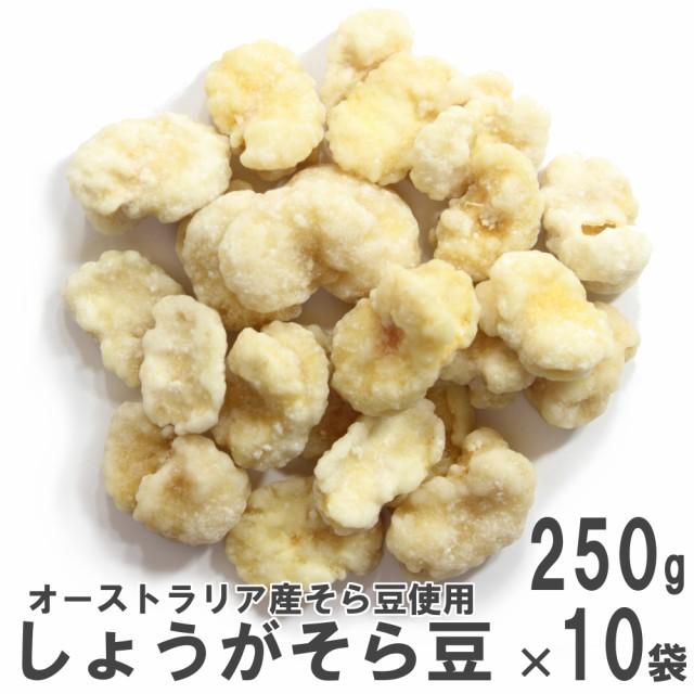 しょうがそら豆250g×10 ケース販売 南風堂 オーストラリア産揚げそら豆のしょうが砂糖がけ豆菓子