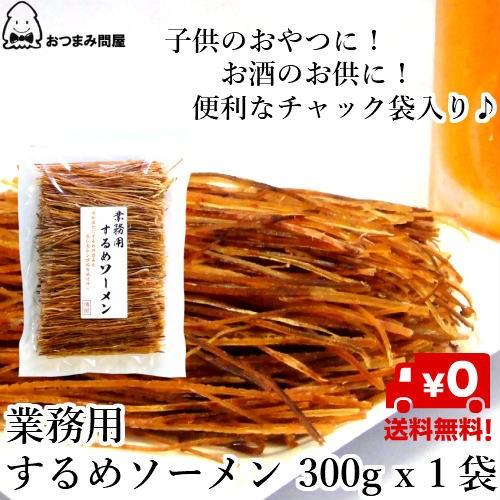 送料無料 するめ いかソーメン するめソーメン 300g × 1袋 業務用 チャック袋入
