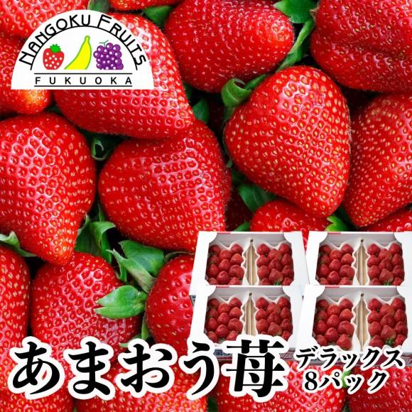 南国フルーツ・福岡産あまおう苺・デラックス8パック