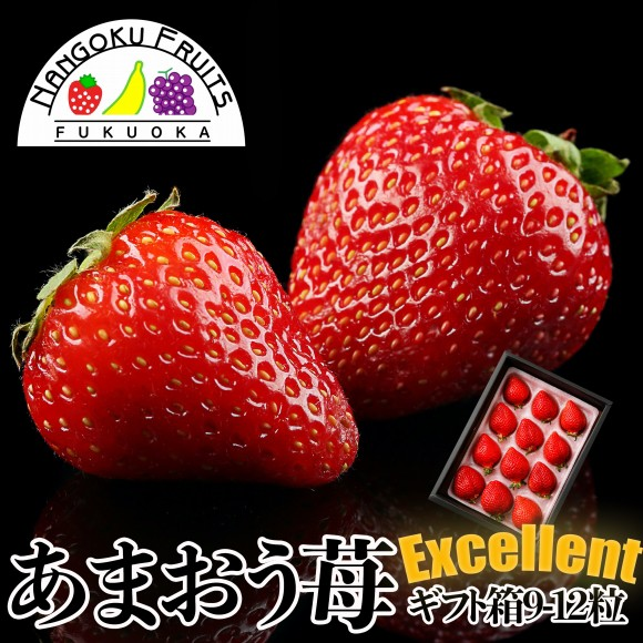 南国フルーツ・福岡産あまおう苺・エクセレント9-12粒ギフト箱