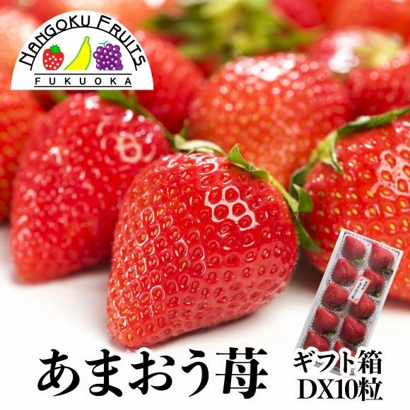 南国フルーツ・福岡産あまおう苺・10粒ギフト箱