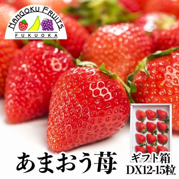南国フルーツ・福岡産あまおう苺12-15粒ギフト箱