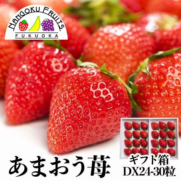 南国フルーツ・福岡産あまおう苺・24-30粒ギフト箱
