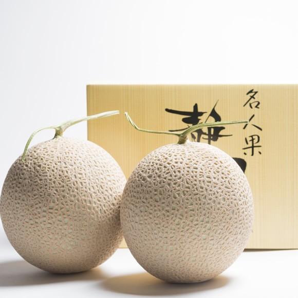 静岡産マスクメロン2玉ギフト箱