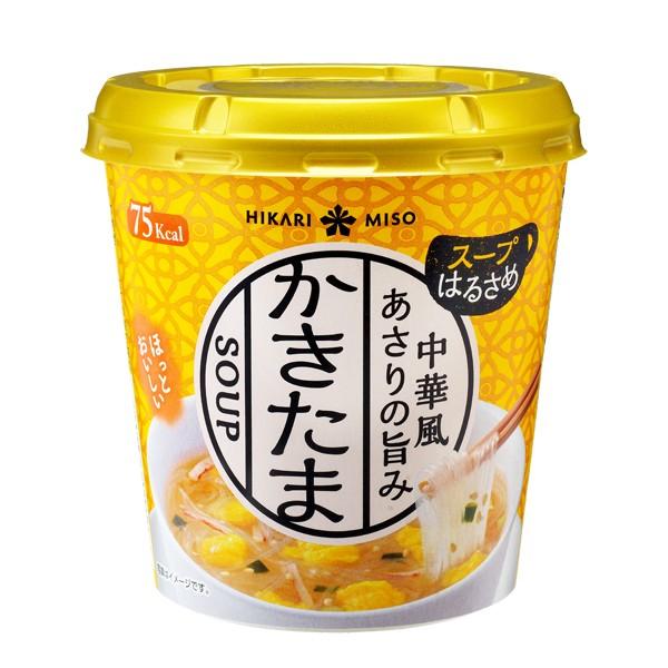 カップスープ春雨 中華風かきたまx6カップ ひかり味噌 スープ春雨 カップスープ