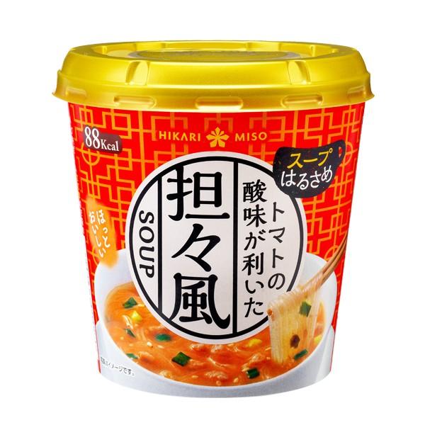 今だけ送料無料 500円OFF カップスープ春雨 トマト担々風x24カップ ひかり味噌 スープ春雨 カップスープ