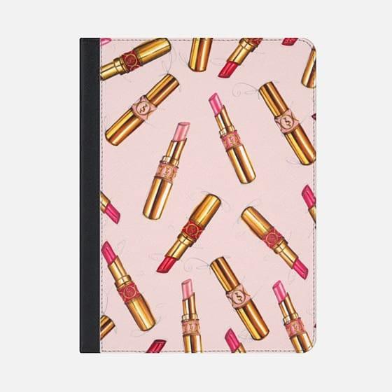 送料無料【Casetify】★ iPad Pro/Air 手帳型★ リップスティック ピンク