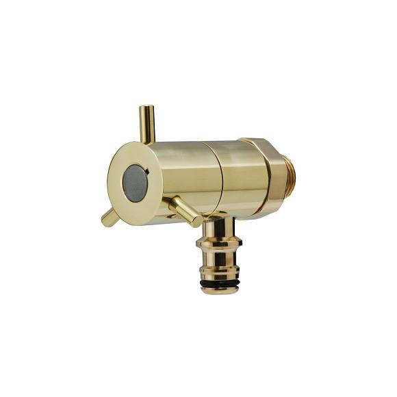 ホース接続回転水栓(ブラス) G102K-B (L38×給水芯から下へ47mm/吐水口)