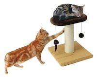 マルカン どこでもツメとぎ お昼寝タワー わんぱく猫用 ペット用 動物用