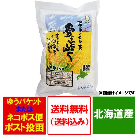 もち米 送料無料 もち米 1kg(もち米 1キロ) 単一原料米 価格 888円 北海道産 もちごめ 令和2年産 品種 風の子もち米 餅米 かぜのこ