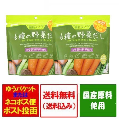 出汁 送料無料 野菜 だし 6種の野菜に鰹昆布のうま味 プラス 6種の野菜だし 90g×2袋 価格 1250 円 ポイント消化 送料無料 国産 原料