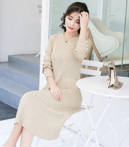 マタニティ ドレス ニット  A ライン 妊婦ワンピース