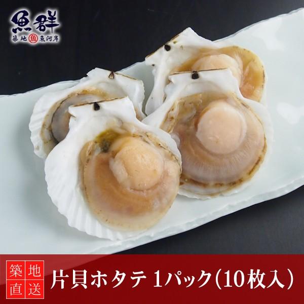 片貝ホタテ 1パック(10枚入) 冷凍便 築地直送 [貝]