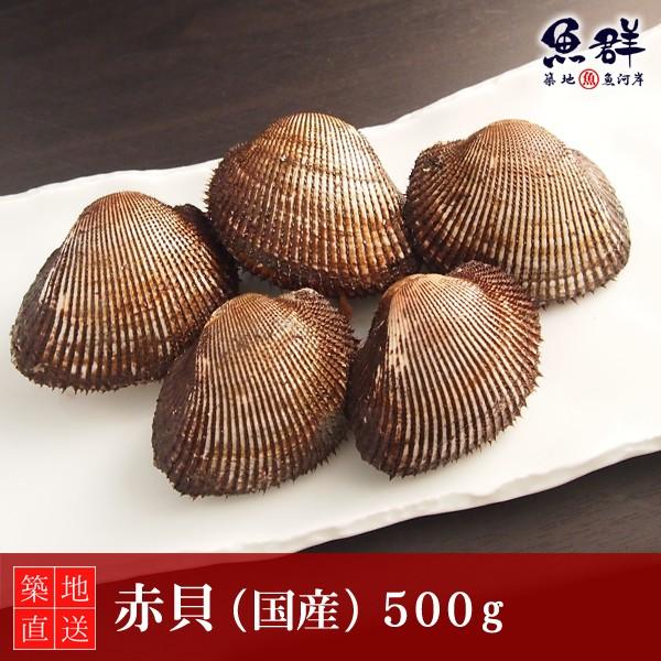 赤貝(国産)500g 冷蔵便 築地直送 [貝]