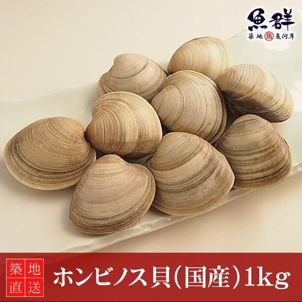 ホンビノス貝1kg(国産) 冷蔵便 築地直送 [貝]
