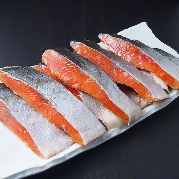 紅鮭の切り身(大辛) 10枚 冷蔵便(冷凍便可) 築地直送 [鮭・サーモン]