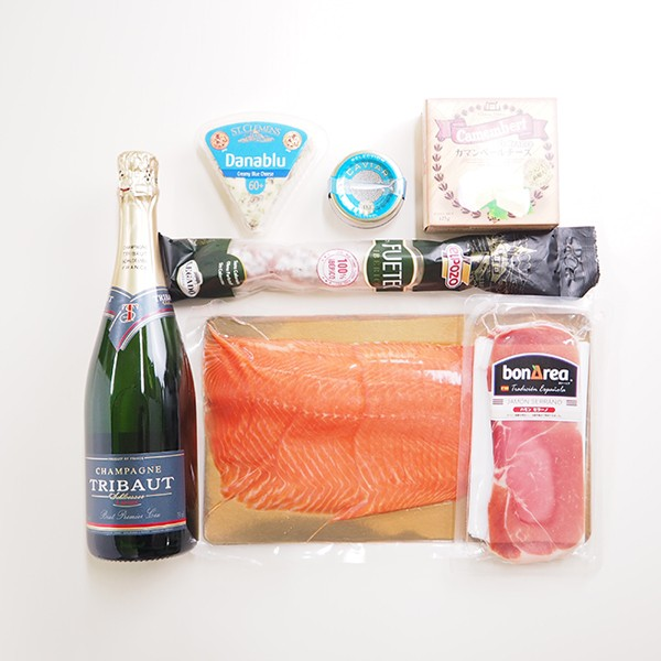 シャンパン&贅沢おつまみセット 「シルバー」 冷蔵便